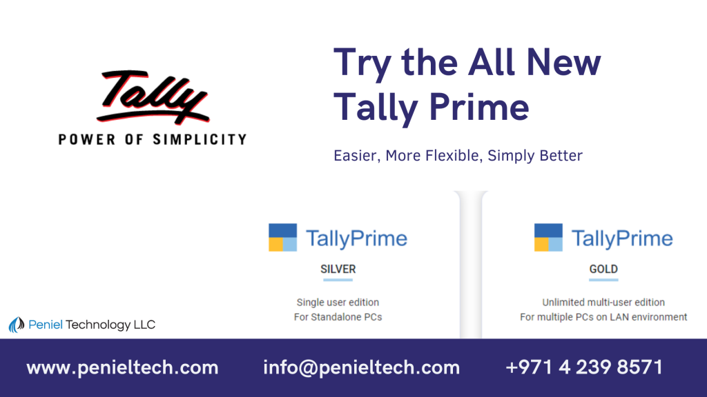 the all new tally prime for Dubai and UAE - Penieltech