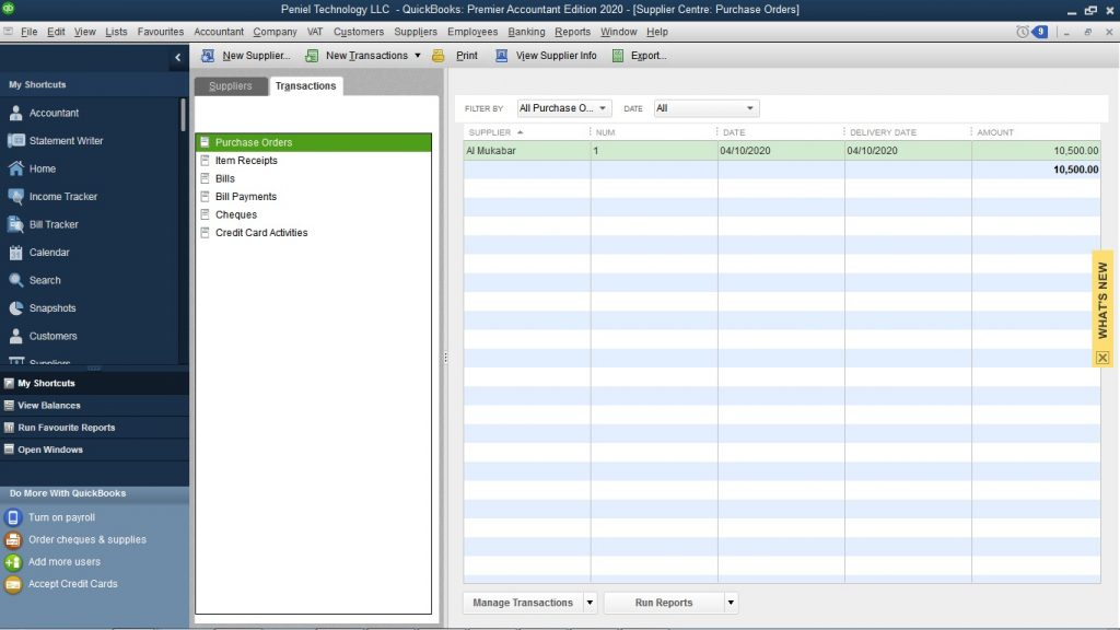 How to Create Purchase order in QuickBooks?