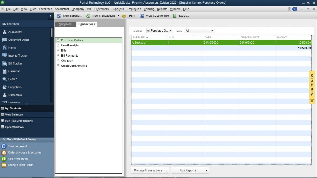 How to Create Local Purchase order in QuickBooks Desktop?